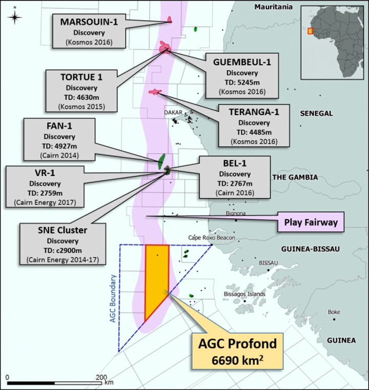 AGC Profond block in the offshore joint development zone between Senegal and Guinea-Bissau