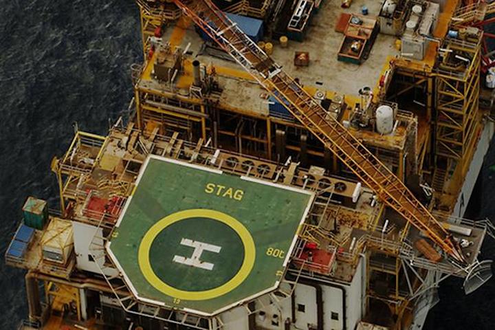 Stag platform offshore Western Australia