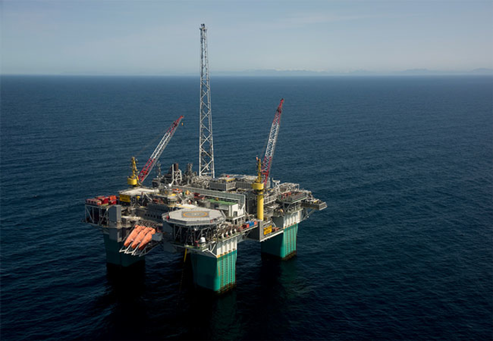 Gjøa semisubmersible platform in the Norwegian North Sea