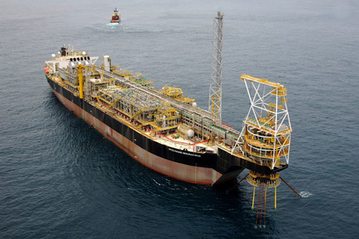 FPSO Kwame Nkrumah operates at the Jubilee oil field offshore Ghana