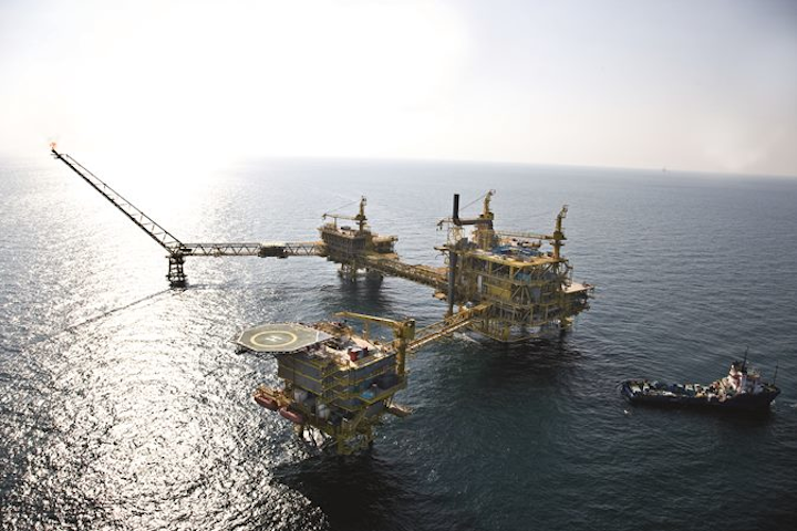 Dan platform in the Danish North Sea