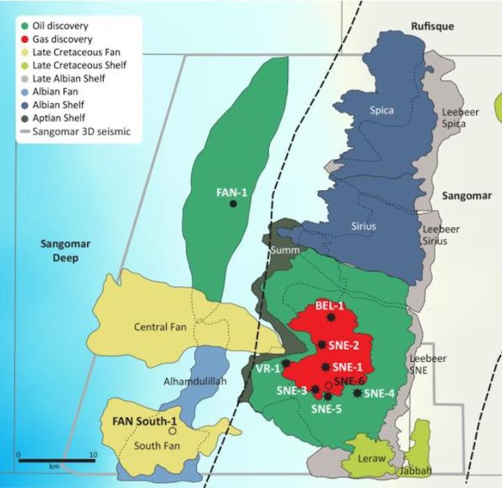 FAN South-1 exploration well into the deepwater South FAN prospect offshore Senegal