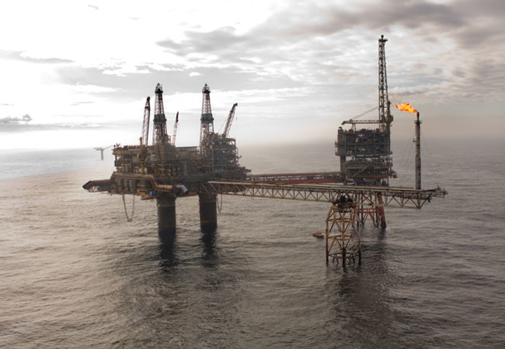 Beryl Alpha platform in the UK central North Sea