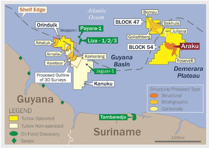 Tullow Oil prospects offshore Guyana
