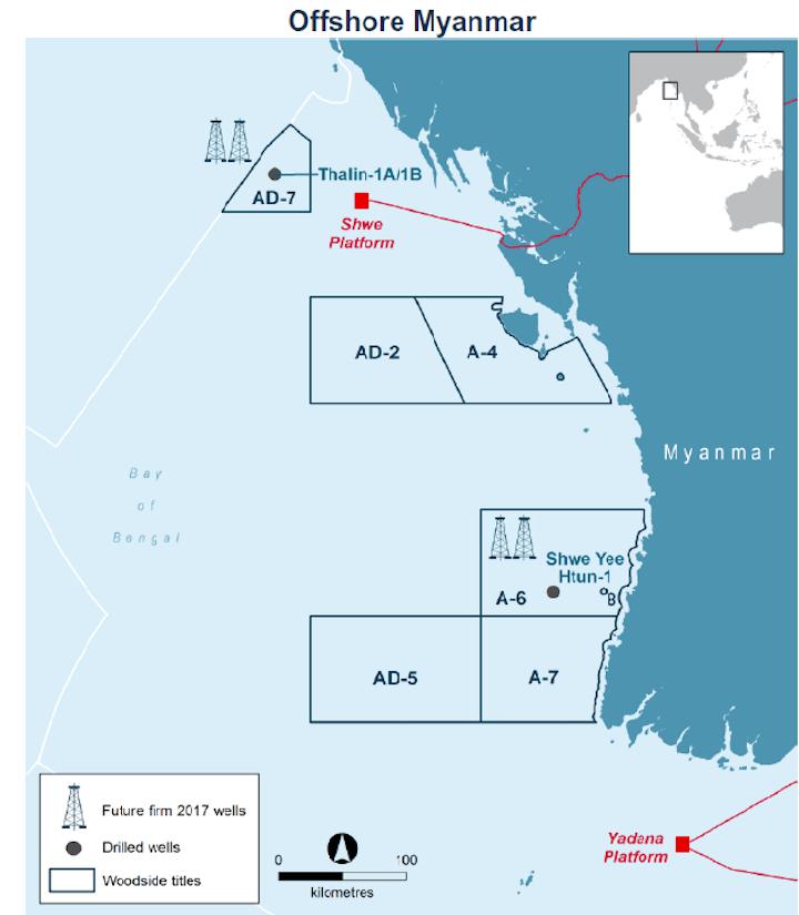 Woodside offshore Myanmar