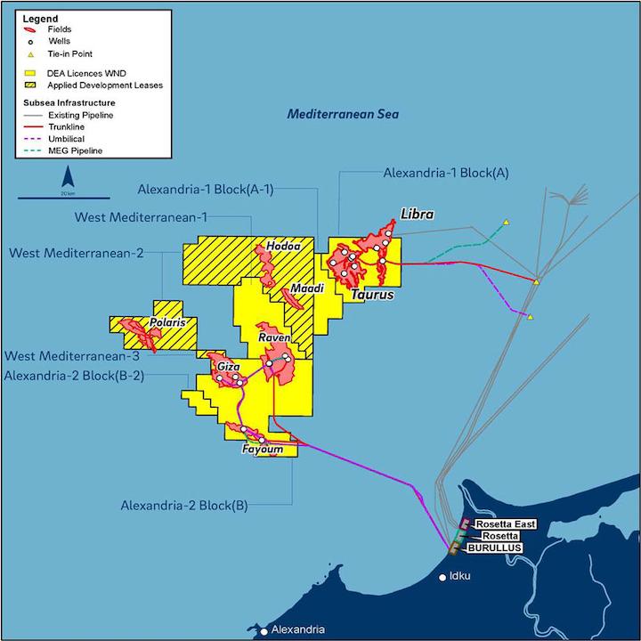 West Nile Delta development offshore Egypt