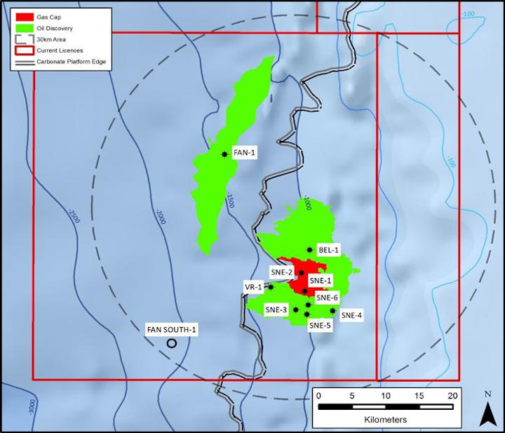 SNE oil field appraisal wells offshore Senegal