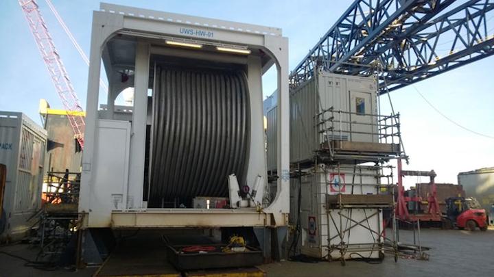 Offshore office container onboard Heerema Marine Contractors' semisubmersible crane vessel Thialf