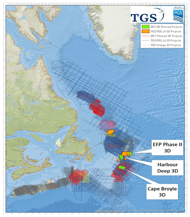 East Flemish Pass 3D Phase II and Harbour Deep 3D offshore Eastern Canada