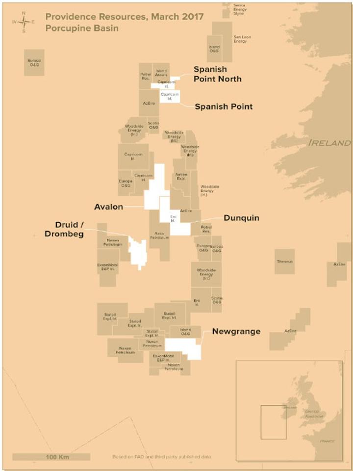Porcupine basin offshore Ireland