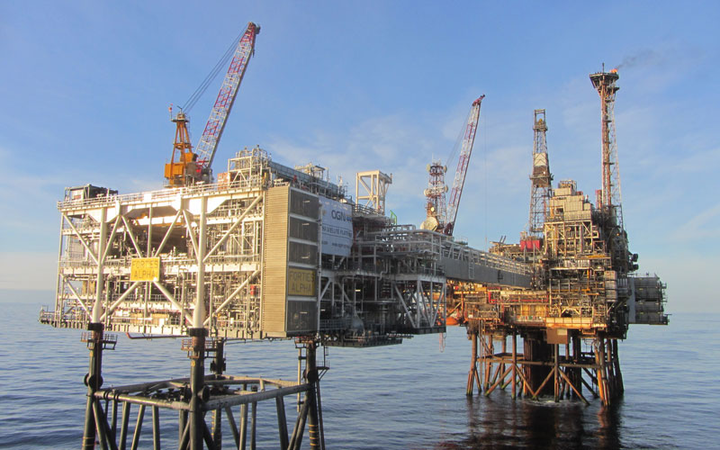 Forties Alpha platform in the UK North Sea