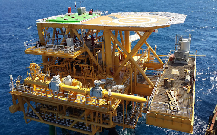 Sea Swift platform at the Amal field in the Gulf of Suez offshore Egypt