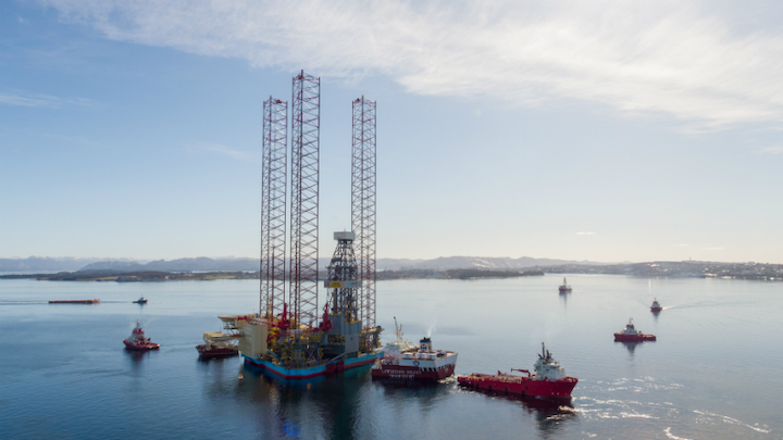 The Maersk Invincible jackup drilling rig