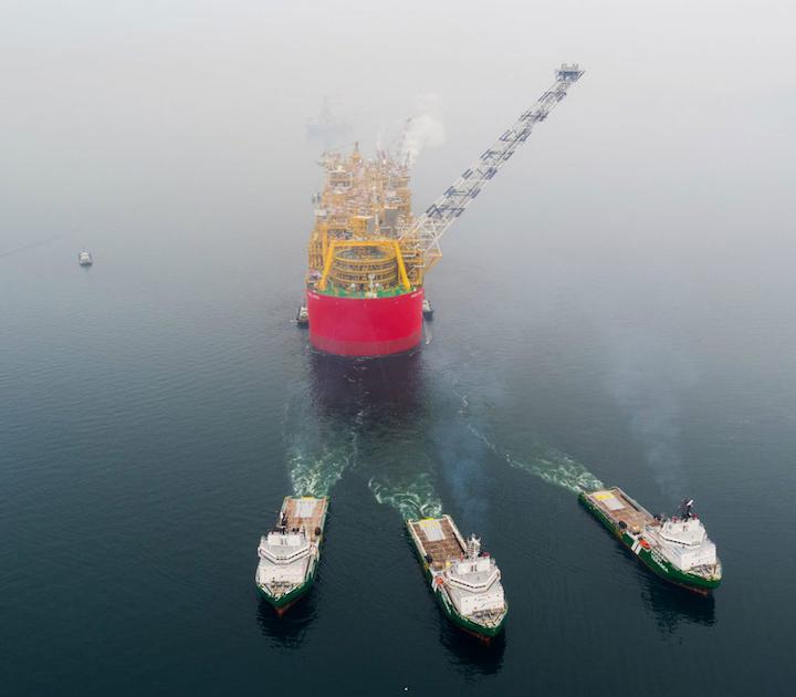 Prelude FLNG vessel