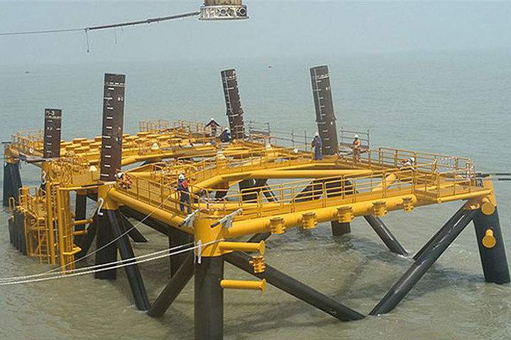 Platform jacket A for the South Pars Phase 13 project in the Persian Gulf
