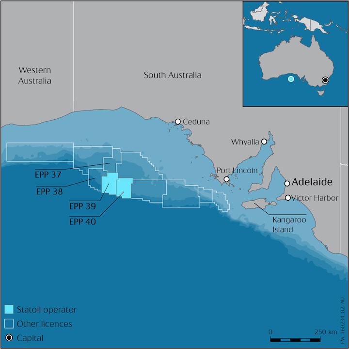 Petroleum titles in the Great Australia Bight offshore South Australia