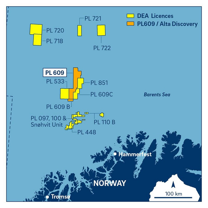 License PL609 in the southern Barents Sea