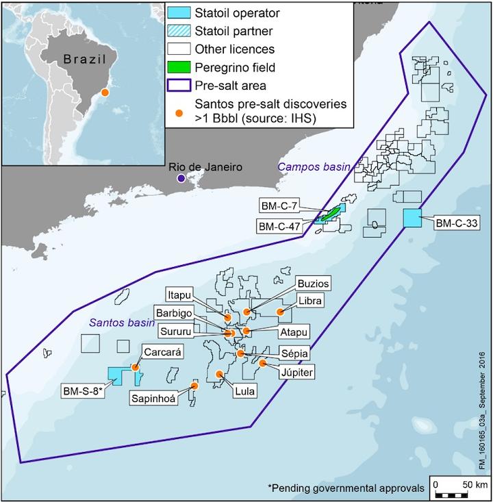 BM-S-8 license in the Santos basin offshore Brazil