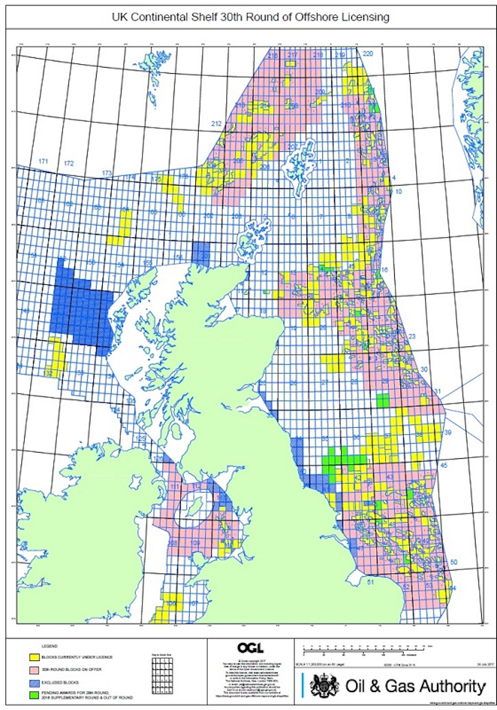 UKCS 30th Offshore Licensing Round
