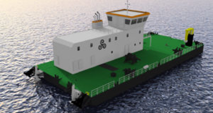 Dive support barge