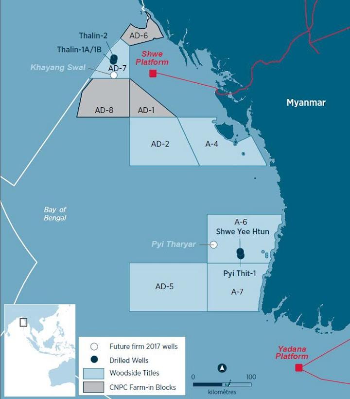 Woodside interests offshore Myanmar
