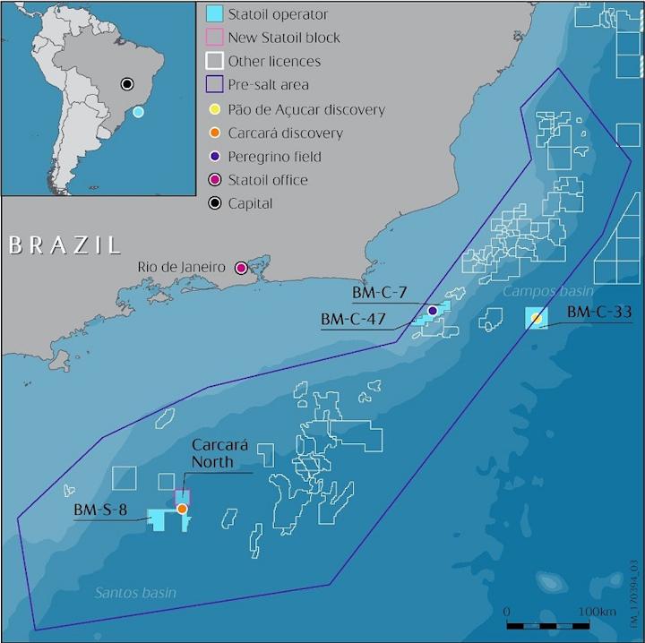 BM-S-8 block offshore Brazil