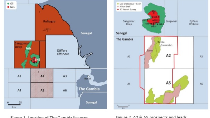 Blocks A2 and A5 offshore The Gambia