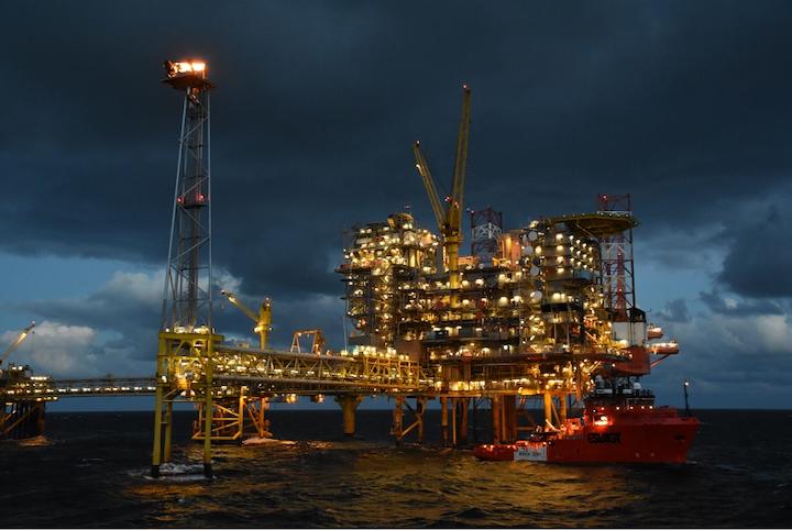 Tyra East offshore Denmark