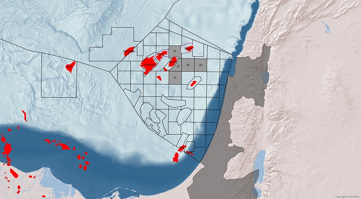 Blocks 12, 21, 22, 23, and 31 offshore Israel
