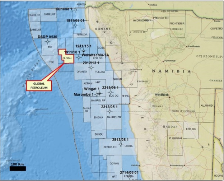 Offshore Namibia blocks 1910B and 2010A