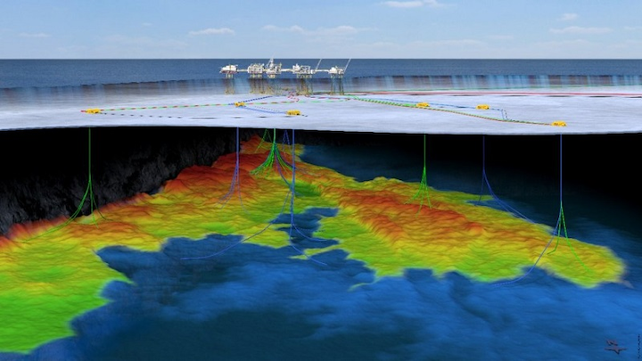 Johan Sverdrup field layout offshore Norway