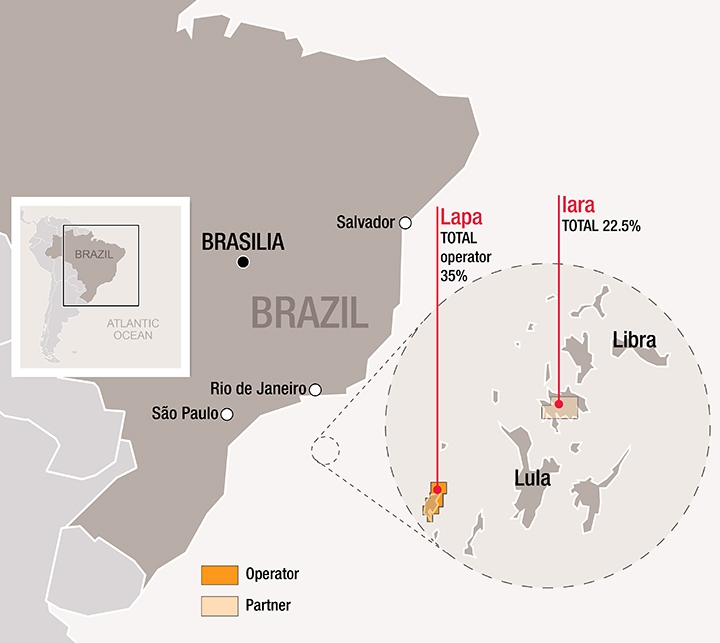 Lapa and Iara fields offshore Brazil