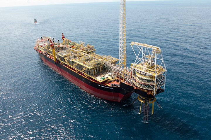 FPSO Prof. John Evans Atta Mills at the deepwater TEN field offshore Ghana