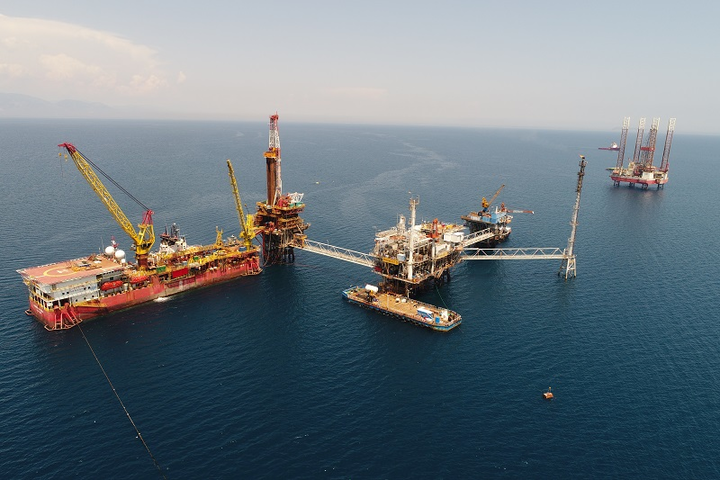 Prinos oil field complex offshore Greece