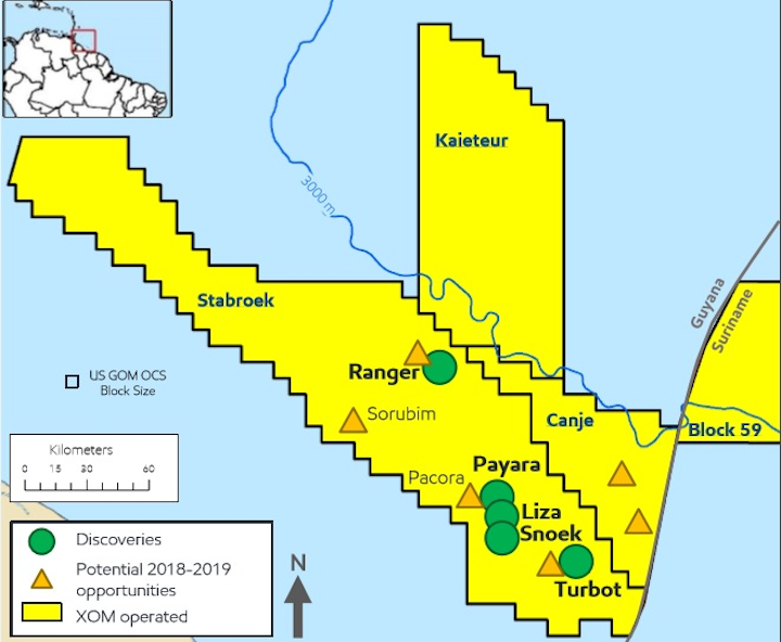 ExxonMobil seventh deepwater oil discovery offshore Guyana