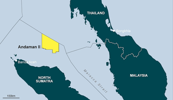 Andaman II license in the North Sumatra basin offshore Indonesia