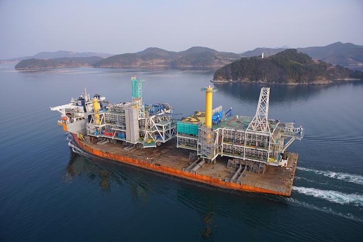 Johan Sverdrup riser platform topsides departing the SHI shipyard in South Korea