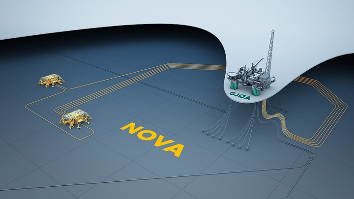 Nova oil and gas field layout