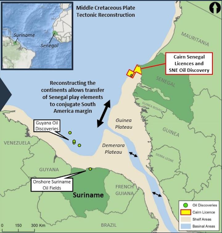 Demerara plateau offshore Suriname