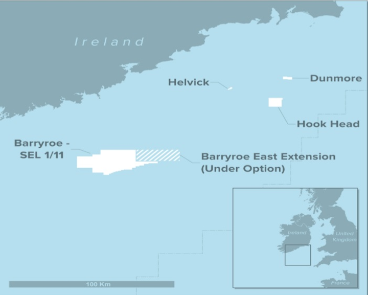 Standard exploration license 1/11 in the North Celtic Sea basin offshore southern Ireland