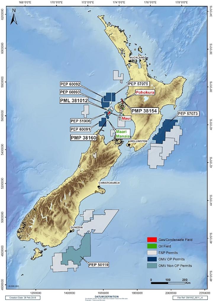 OMV's offshore New Zealand
