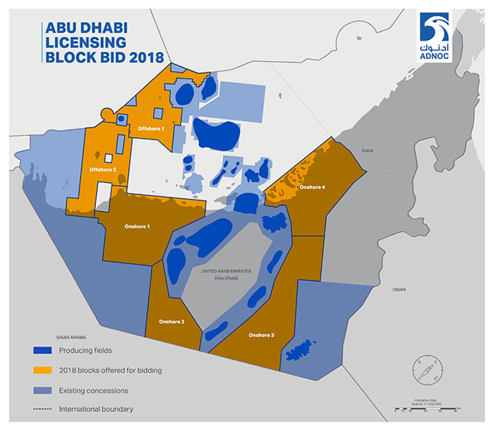 Abu Dhabi offering two offshore blocks in first license