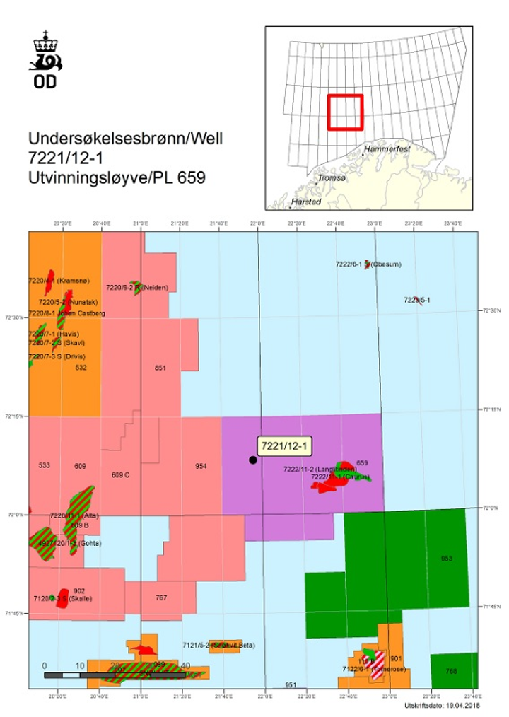 Well 7221/12-1 at the Svanefjell prospect in the southern Barents Sea