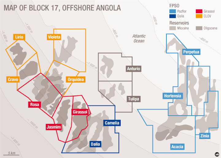Total's block 17 offshore Angola