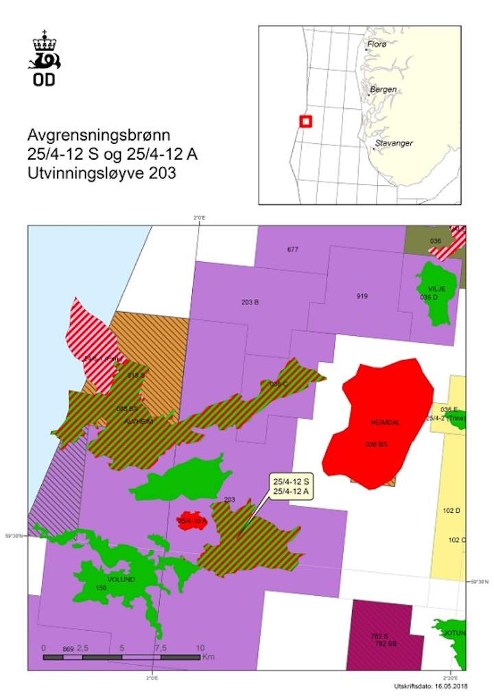Appraisal wells 25/4-12 S and well 25/4-12 A in license PL203 in the Norwegian North Sea