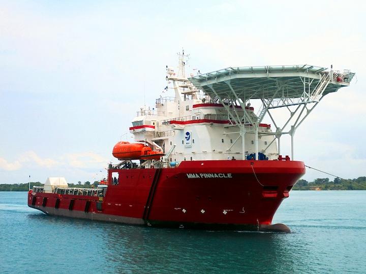ROV support vessel MMA Pinnacle