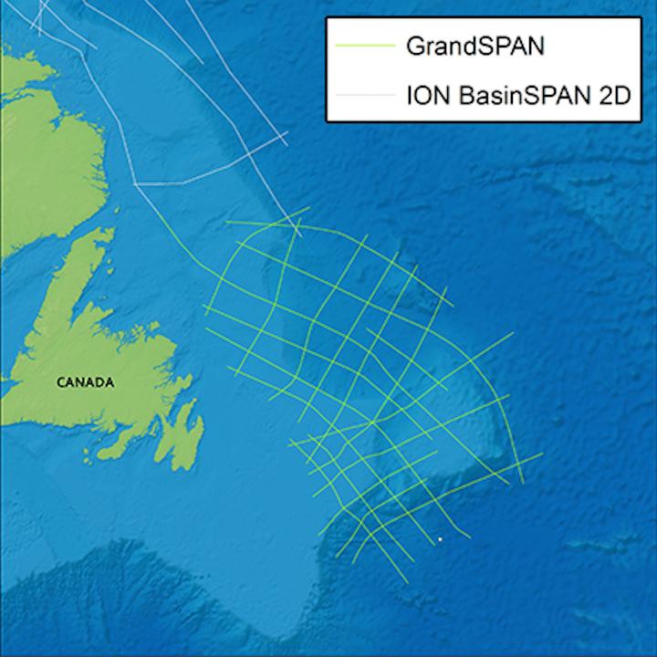 GrandSPAN 2D multi-client seismic program in the Grand Banks offshore Newfoundland