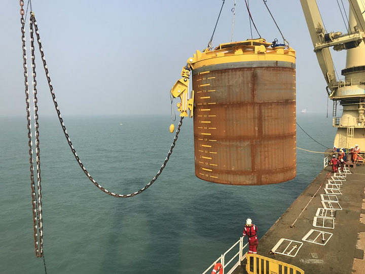 Installation of the mooring system for the Moheshkhali floating LNG import terminal