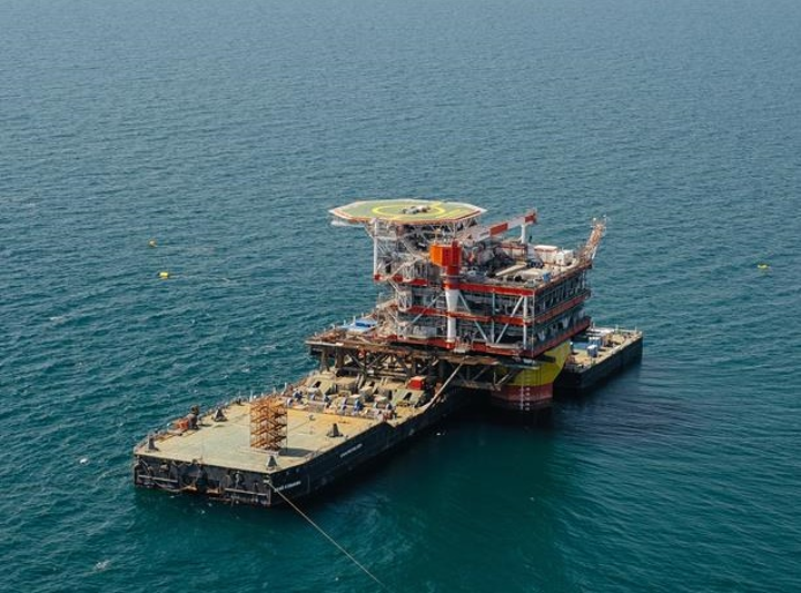 Topsides of the wellhead platform for the Yuri Korchagin Phase 2 development