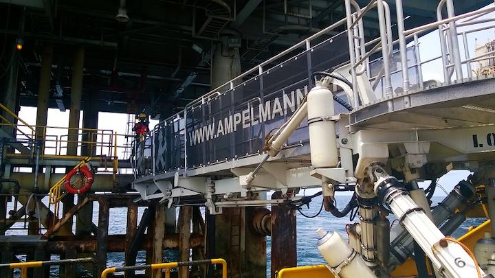 Ampelmann L-type gangway system
